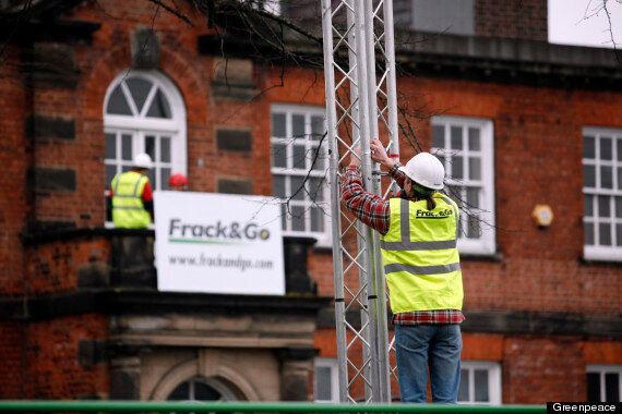 Greenpeace Occupy George Osborne's Local Conservative Club In Fracking Protest