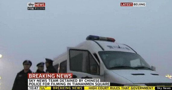 Mark Stone, Sky News Beijing Reporter, Detained During Live