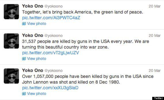 Yoko Ono Tweets Picture Of John Lennon's Blood-Stained Glasses In Anti-Gun Protest