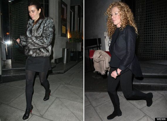 Victoria Beckham Cuts A Sleepy Figure After Dinner With Kelly Hoppen And Tana Ramsay