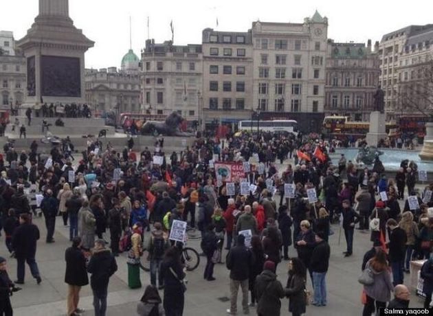 Bedroom Tax Protests Take Place Around The UK