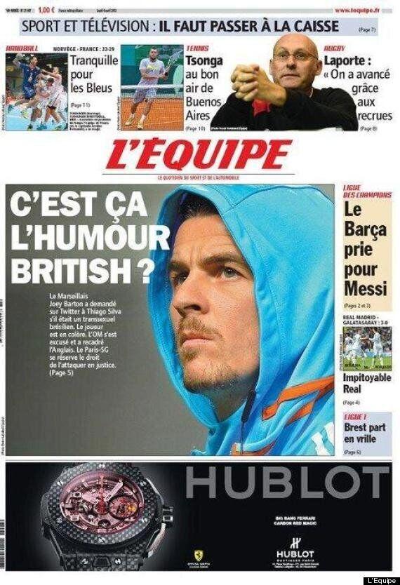 Joey Barton Gagged By Marseille After Thiago Silva 'Ladyboy' Twitter