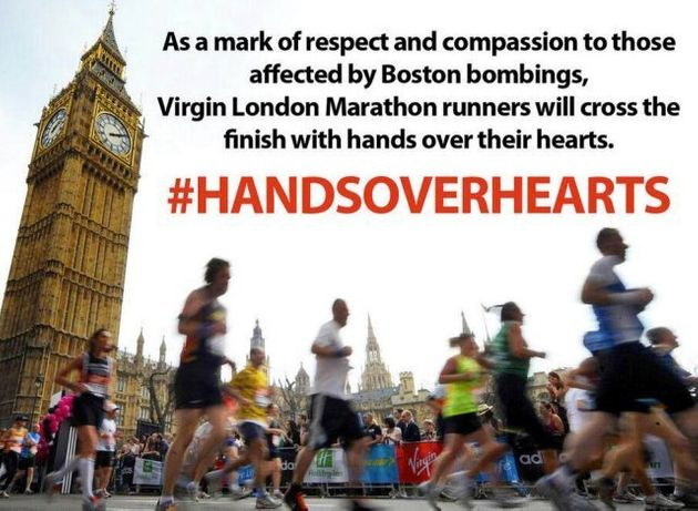 London Marathon Runners Urged By Spat To Run 'Hand Over Hearts' For Boston