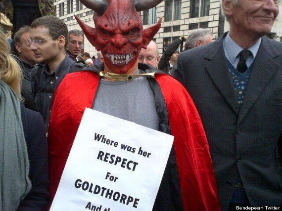 Margaret Thatcher Funeral: Protesters Chant 'Scum' As Procession Passes Through London's Ludgate