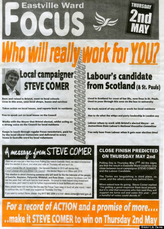 Local Elections 2013: 'Racist' Leaflet Row Between Labour And Lib Dems In