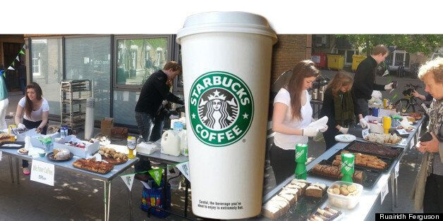 Students have been called scabs for using Starbucks coffee in their Macmillan cancer charity