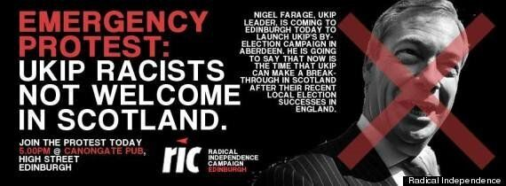 Nigel Farage Edinburgh Protest Turns Ugly As Ukip Leader Locked In Pub 'For Own