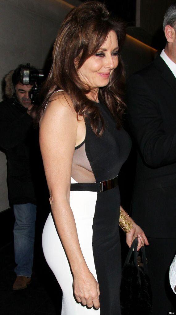 Carol Vorderman Flashes Side Boob As She Leaves British Inspiration Awards