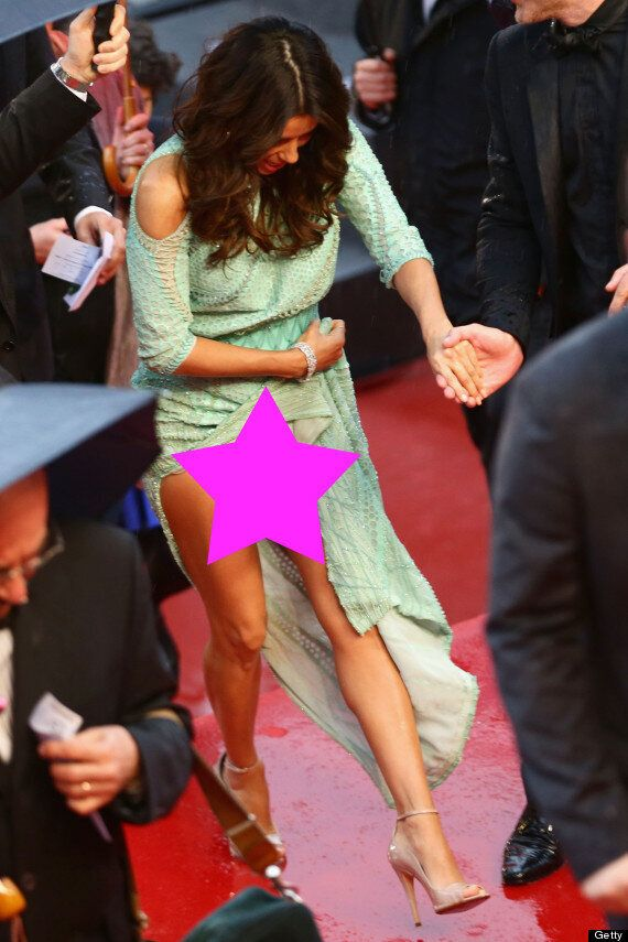 Eva Longoria Remembers To Wear Underwear At Cannes Gala Dinner After Forgetting To Wear Knickers On The...