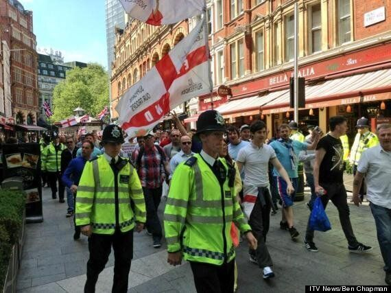 EDL And UAF March Through London In Wake Of Lee Rigby Murder