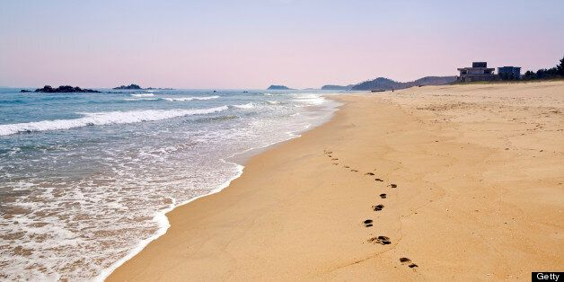 Beach resort area south of Wonsan, East Sea of Korea, Democratic People's Republic of Korea (DPRK), North Korea, Asia