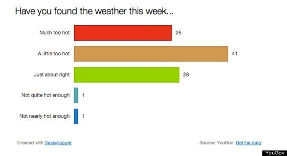 UK Heatwave: Britons Say It's Too Hot, Poll