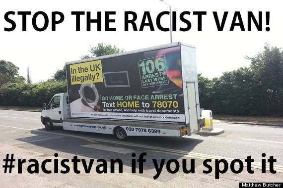 Twitter's #RacistVan Campaign To Troll Home Office Over 'Go Home' Campaign Against