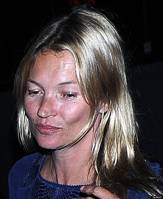 Kate Moss Goes Without Make-Up On London Night Out