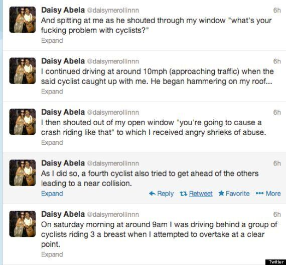Driver Daisy Abela Tweets That She 'Purposely' Ran Over A