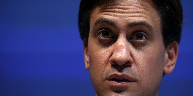 BOURNEMOUTH, ENGLAND - SEPTEMBER 10: Labour leader Ed Miliband speaks at the annual TUC Congress 2013...
