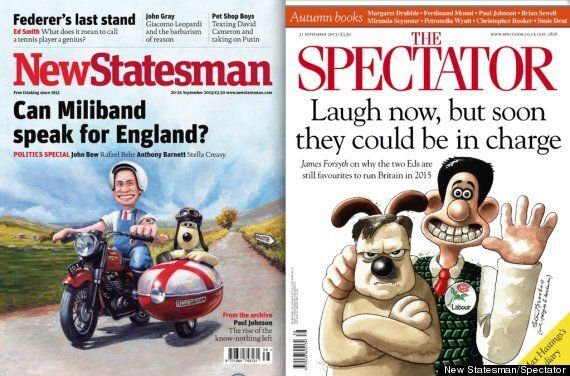 Wallace And Gromit Ed Miliband Covers As The New Statesman And The Spectator Battle It