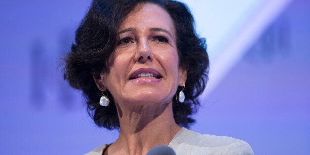Ana Botin, chief executive officer of Santander U.K. Plc, speaks at the Institute of Directors annual...