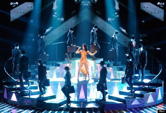 Katy Perry Transforms Into A Tiger As She Performs 'Roar' On 'X Factor'