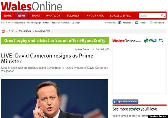 David Cameron's Resignation Live-Blogged By Wales Online (By