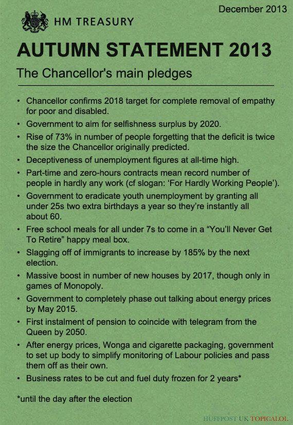 Autumn Statement: George Osborne's Main