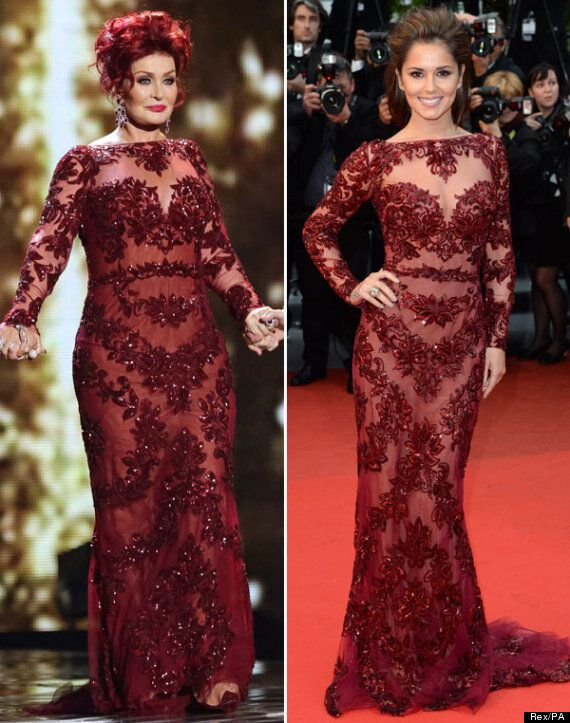 Sharon Osbourne Dons Cheryl Cole's Cannes Film Festival Dress For 'X Factor' Final - But Who Wore It...