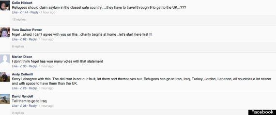 Ukip Supporters React To Nigel Farage's Call For Asylum For Syrian
