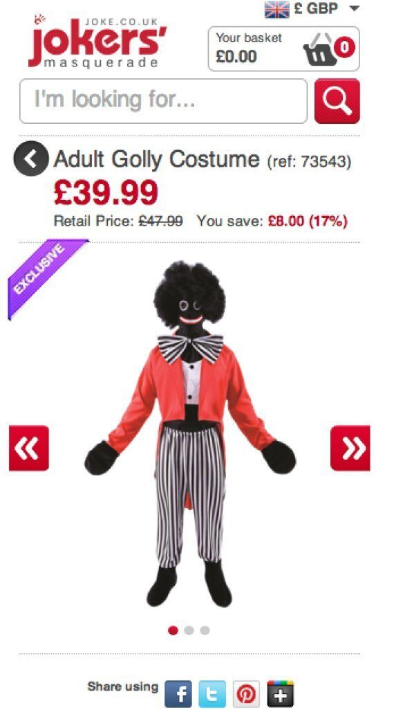 Golly Costume Advert Deemed Offensive And Banned By Advertising Standards