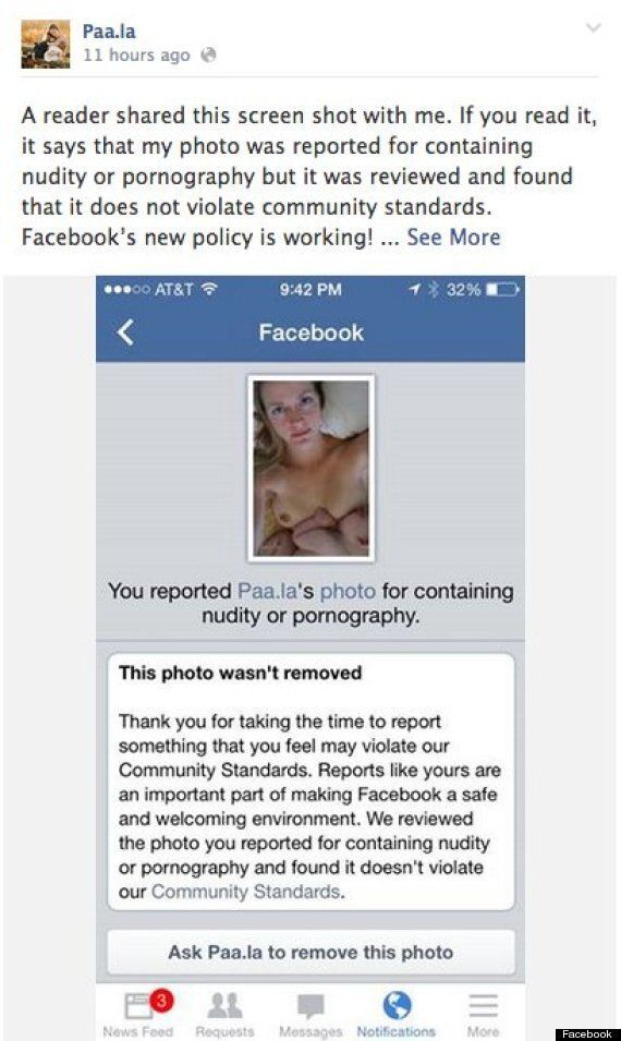 Facebook Breastfeeding Photo Ban Lifted After #FreeTheNipple Campaign