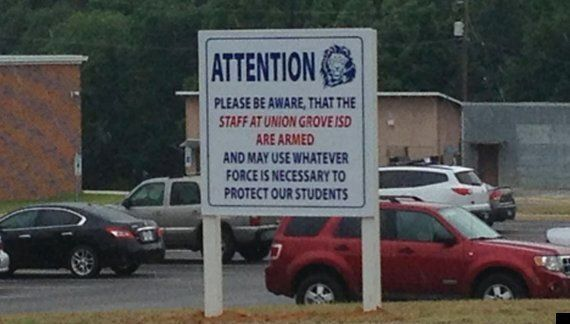 Gun Control: Texas School Displays Signs Warning Staff Are Armed 'And May Use Force'
