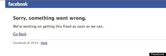 Facebook Is Down. Everyone PANIC. (UPDATE: It's Back. Everyone