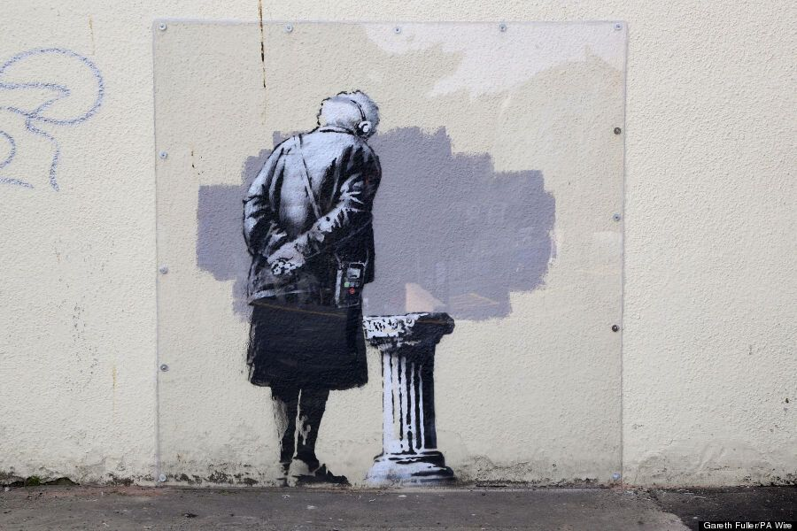 Banksy Artwork Destroyed For 'Being Racist' In