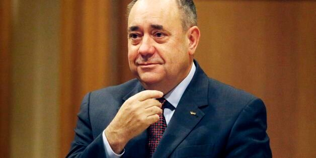 Scottish First Minister Alex Salmond ahead of addressing the Scottish Trades Union Congress (STUC) conference,...