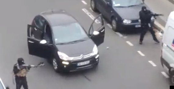 Charlie Hebdo Attack Footage Captures Suspects Murdering Police Officer As They