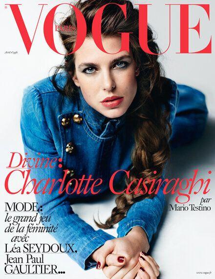 Charlotte Casiraghi covers Vogue Paris April 2015 by Mario
