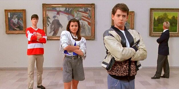 Bueller, Cameron And Sloane at the Art Institute in