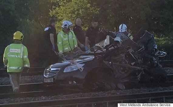 Train Pulverises Car Left On Level Crossing In Burton Upon