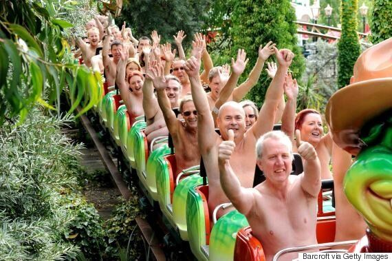 Naked Rollercoaster Riders Raise Money For Cancer Whilst Attempting To Break World