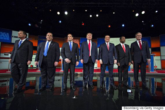 Fox Business Republican Presidential Debate Features Six Angry Men And A Dozing Former