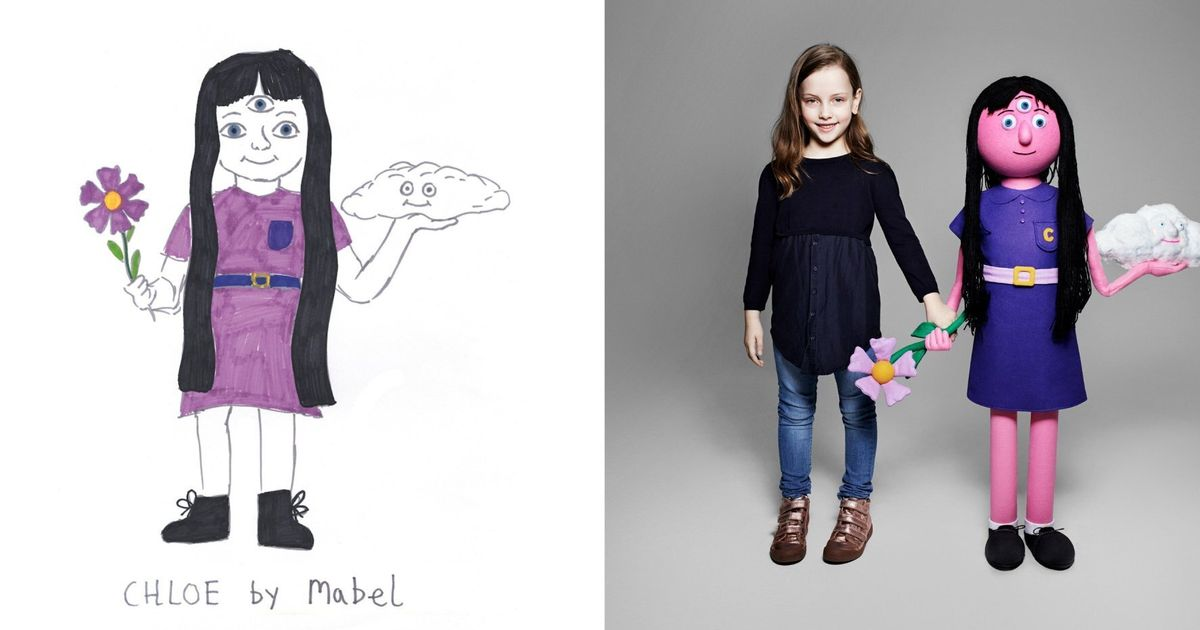 Sunday Morning Imaginary If Only >> Children S Drawings Of Imaginary Friends Brought To Life By Rankin
