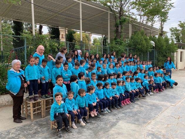 Mai 2019, centre éducatif des maristes bleus à Alep, soutenu par l'ONG Baroudeurs...