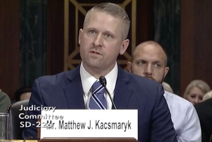 Matthew Kacsmaryk, 42, has a record of being incredibly hostile to LGBTQ and abortion rights. He's a lifetime federal judge now.