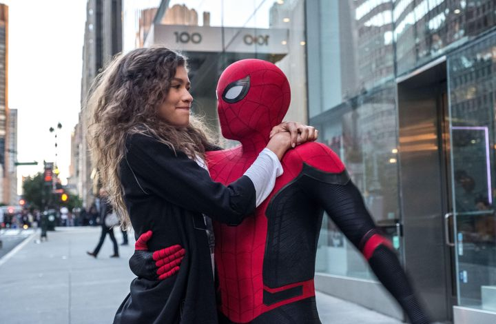 MJ (Zendaya) and Spider-Man (Tom Holland).