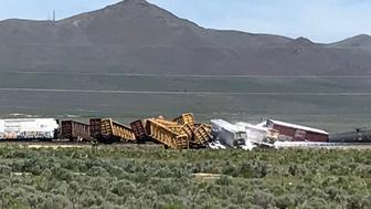 Nevada train derailment