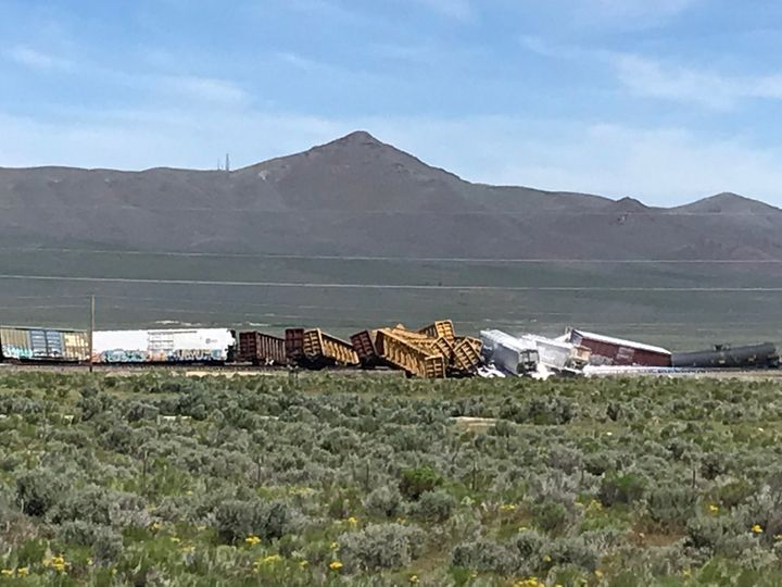 Train Carrying Explosives, Military Weapons Derails Near Nevada Interstate