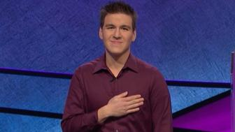 """James Holzhauer, the """"Jeopardy"""" champion who dominated an incredible 32 games and won $2,462,216, donated to a Naperville, Ill., pancreatic cancer walk in Alex Trebek's name. Trebek, who broke the news of his illness in March while filming the same season Holzhauer appeared in, is currently battling stage IV pancreatic cancer."""