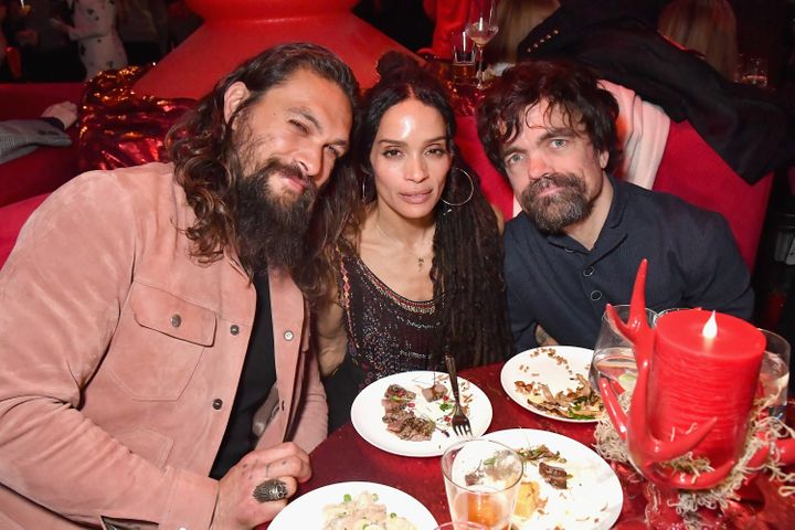 "Jason Momoa, Lisa Bonet and Peter Dinklage attend the ""Game Of Thrones"" Season 8 premiere after-party in New York in April."