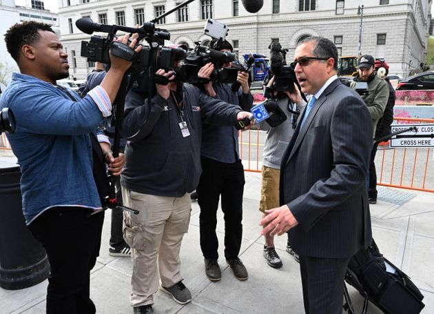 Keith Ranieres lawyer, Marc Agnifilo, arrives at Brooklyn Federal Court on May 7, 2019 in New