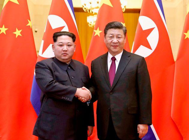 시진핑 주석이 집권 후 처음으로 북한에