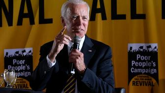 Democratic presidential candidate former Vice President Joe Biden, speaks at the Poor People's Moral Action Congress presidential forum in Washington, Monday, June 17, 2019. (AP Photo/Susan Walsh)